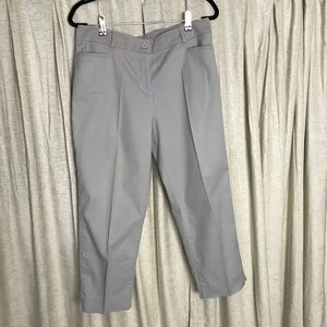 Talbots Flat Front Capri Pants Size 12. Light Gray